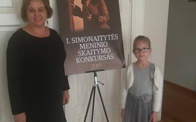 Ievos Simonaitytės vardo moksleivių meninio skaitymo konkursas